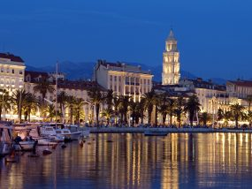 Old Roman City of Split at Dusk
